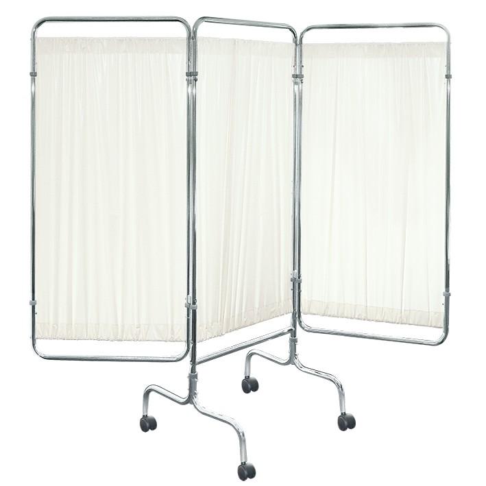 Wandschirm 3-flügelig, fahrbar Farbe: weiß/weiß/weiß