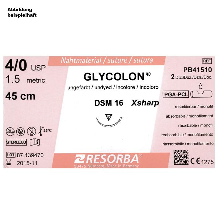 GLYCOLON DSM 18 4/0=1,5 ungefärbt, Nahtmaterial Fadenlänge 45 cm (24 Stck.)