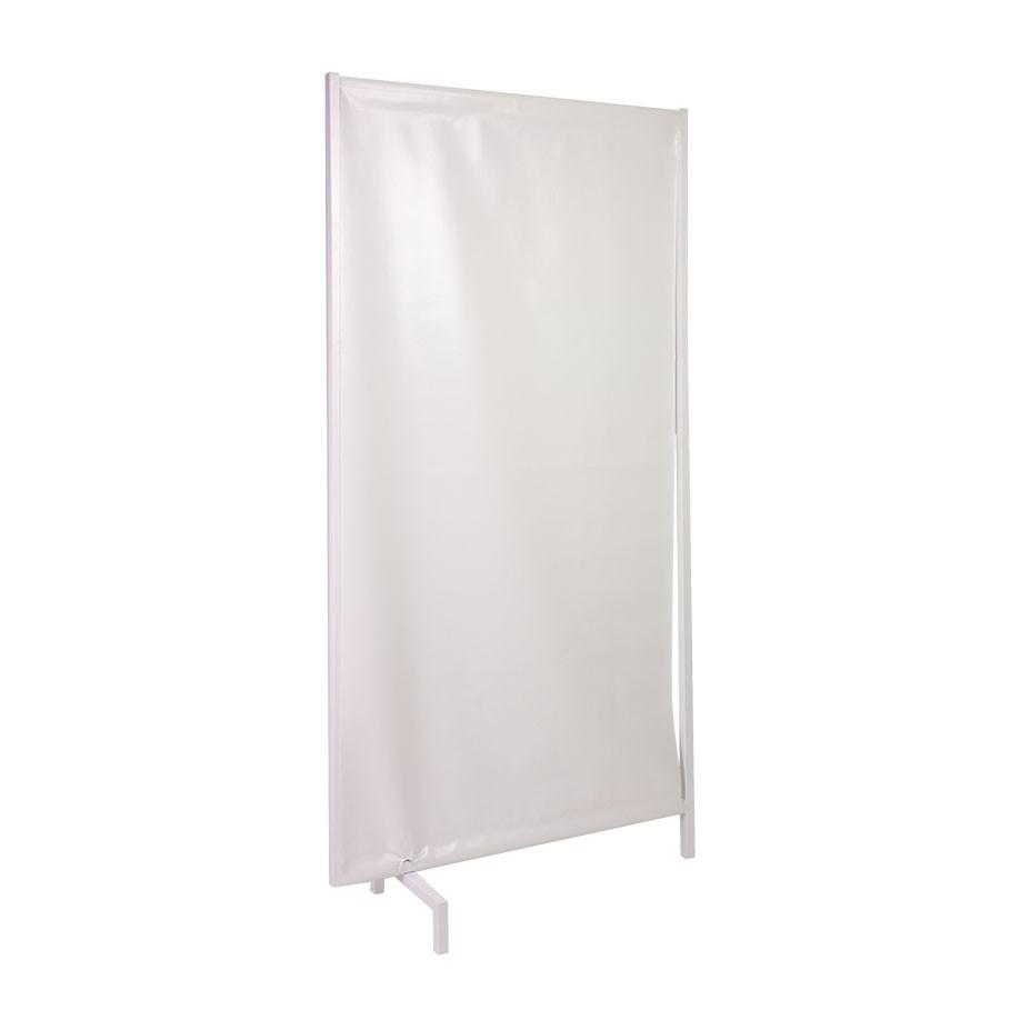 Bettschirm 1-flügelig, Bezug PVC weiß