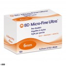 * BD Micro-Fine Ultra Pen-Nadeln -ausser Handel-/Alternative: BEC 320523 31 G 0,25 x 6 mm (100 Stck.)  UK = 12 Pack