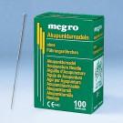 Akupunkturnadeln 0,20 x 15 A2 mit Silbergriff (100 Stck.) UK = 100 Pack