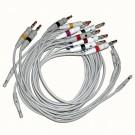 Ableitungskabel, IEC, Bananenstecker, für CP100/200 EKG-Geräte (10 Stck.)