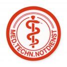 Schild: Med.Techn. Notdienst