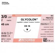 GLYCOLON DS 18 3/0=2 ungefärbt, Nahtmaterial Fadenlänge 70 cm (24 Stck.)